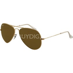 Aviator Large Metal  Sunglasses Gold Crystal Gold Mirror