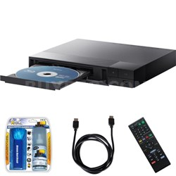 BDP-S1700 Streaming Blu-ray Disc Player w/ Cleaning Kit and HDMI Cable Bundle