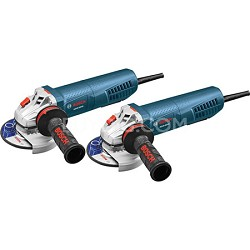 """2 Pack 4-1/2"""" Angle Grinders with No-Lock-on Paddle Switch"""