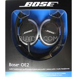 OE2 Black On-Ear Audio Headphones