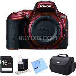D5500 Red Digital SLR Camera and 16GB Bundle