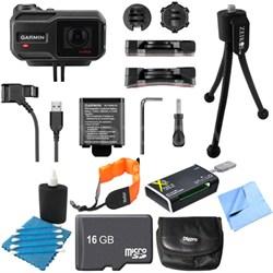 VIRB X Compact Waterproof HD Action Camera with G-Metrix 16GB Memory Card Bundle