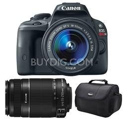 EOS Rebel SL1 SLR Digital Camera EF-S 18-55mm and 55-250mm STM Bundle