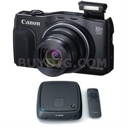 PowerShot SX710 HS 20.3MP HD 1080p Black Digital Camera Connect Station Bundle