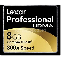 8 GB Professional UDMA 300X CompactFlash Card