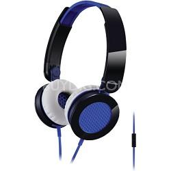 Sound Rush On-Ear Headphones, Blue/Black (RP-HXS200M-A)