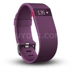 Charge HR Wireless Activity Wristband - Plum - Large