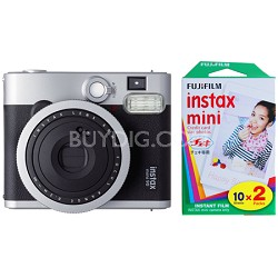 Instax Mini 90 Neo Classic Instant Film Camera w/ 20 Sheets Instant Film Bundle