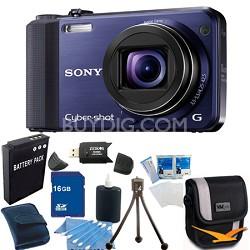 Cyber-shot DSC-HX7V Blue Digital Camera 16GB Bundle