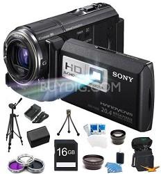 HDR-PJ580V 32GB 20.4 MP Stills 12x Optical HD Projector and Camcorder Bundle