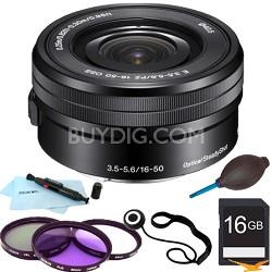 SELP1650 - 16-50mm Power Zoom E-Mount Lens Essentials Bundle