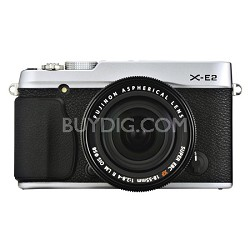 X-E2 16.3 MP 3-inch LCD Compact System Digital Camera and 18-55mm Lens - Silver