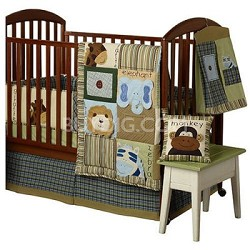 Jungle Faces Crib Set - 4 piece