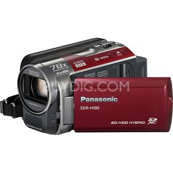 SDR-H100/R 80GB Hard Drive Red Camcorder