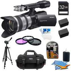 NEX-VG20H HD Interchangeable Lens Handycam Camcorder w/ 18-200mm Lens and Bundle
