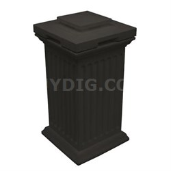 Savannah Column Waste Bin - SV-COL-BLK