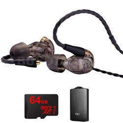 UM Pro 30 High Performance In-ear Headphone (Smoke)-78489 w/ FiiO A3 Amp Bundle