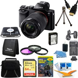 Alpha 7K a7K Digital Camera 64GB SDXC Card and Battery Bundle