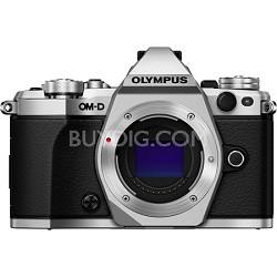 OM-D E-M5 Mark II Micro Four Thirds Digital Camera Body Only - Silver