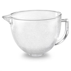 5-Quart Tilt-Head Hammered Glass Bowl with Lid - K5GBH