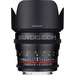 DS 50mm T1.5 Full Frame Wide Angle Cine Lens for Sony E Mount