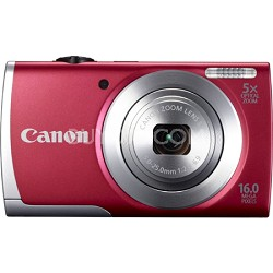 Powershot A2500 Red 16MP Digital Camera with 5x Opt. Zoom and Smart AUTO