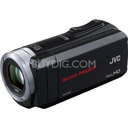 GZ-R10B Quad Proof Black 2.5 MP 40x Dynamic Zoom 60x Digital Zoom HD Camcorder
