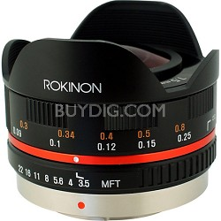 FE75MFT-B - 7.5mm F3.5 UMC Fisheye Lens for Micro Four Thirds (Black)