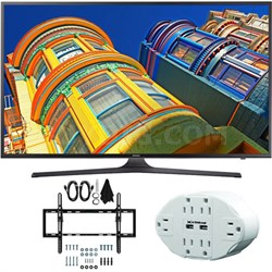 "UN55KU6290 55"" Class 6-Series 4K Ultra HD Smart LED TV w/ Tilt Wall Mount Bundle"