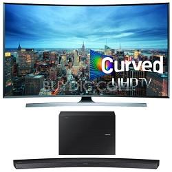 UN78JU7500 - 78-Inch 2160p 3D Curved 4K UHD Smart TV w/ HW-J6000 Soundbar Bundle