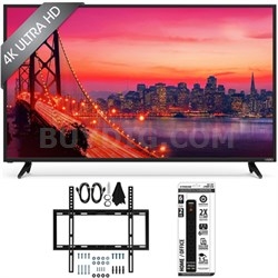 "E43u-D2 - 43"" SmartCast 4K UHD LED Smart TV Home Theater Slim Wall Mount Bundle"