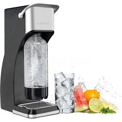 Sparkling Beverage Maker with 4-Ounce CO2 Cartridge - Black