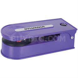 STT008USB Mini Turntable Record Player with USB Encoding - Purple