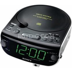 ICF-CD815 AM/FM Stereo CD Clock Radio with Dual Alarm - OPEN BOX