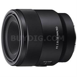 SEL50M28 FE 50mm F2.8 Full Frame E-Mount Macro Lens - OPEN BOX