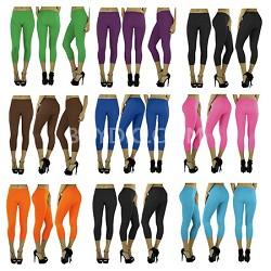 Women's Seamless Capri Leggings (6-Pack Black) One Size