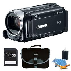 VIXIA HF R400 HD 53x Image Stabilized Optical Zoom Camcorder Plus 16GB Bundle
