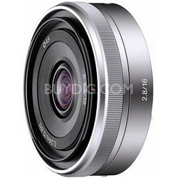 SEL16F28 - 16mm f/2.8 Wide-Angle Lens for NEX Series Cameras