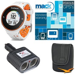 Forerunner 620 Orange/White Deluxe Bundle with Heart Rate Monitor