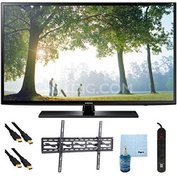 "UN65H6203 - 65"" 120hz Full HD 1080p Smart TV Tilt Mount & Hook-Up Bundle"