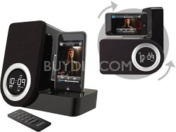 iP41 Rotating Alarm Clock for iPod and iPhone - Black