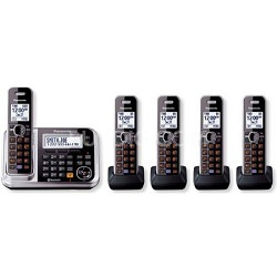KXTG7875S DECT 6.0 5-Handset High Quality Phone System with Answering Capability