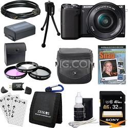 NEX-5TL Compact Interchangeable Lens Camera w 16-50mm Power Zoom Ultimate Bundle
