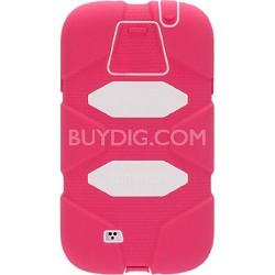 Survivor Case for Samsung Galaxy S5 - Pink/White