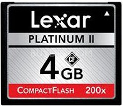 Platinum II 4 GB 200x CompactFlash Memory Card