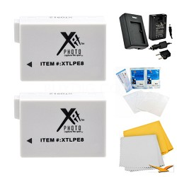 2 Battery Pack Kit for Canon EOS T2i, T3i, T4i, and T5i