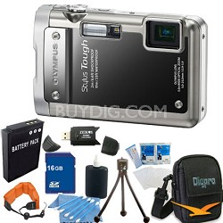 Stylus Tough 8010 Waterproof Shockproof  Digital Camera 16GB Memory Bundle