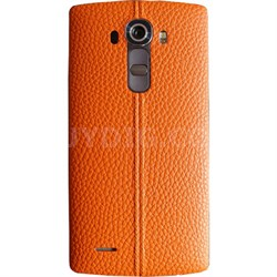 Genuine Leather Back Cover for the LG G4 (Orange Leather)
