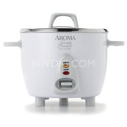 6 Cup White Simply Stainless Pot - White