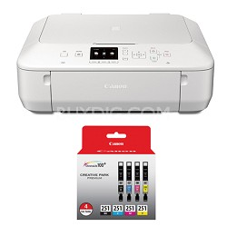 PIXMA MG5620 Color Wireless All-in-One Inkjet White Printer Ink 4 Pack Bundle